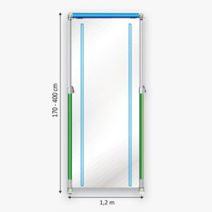 Curtain-Wall Staubschutz System Curtain Doorkit Skizze