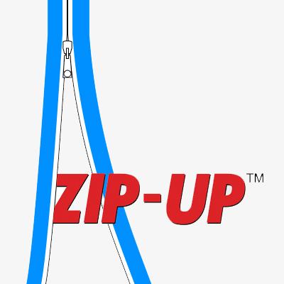 Curtain-Wall Staubschutzwand Reißverschluss ZIP-UP selbstklebend