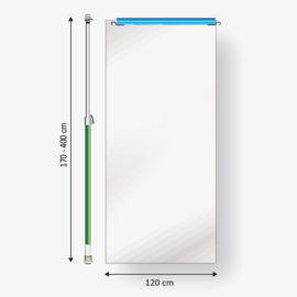 Curtain-Wall Staubschutzwand System Erweiterung Ausbaumodul 120 Skizze