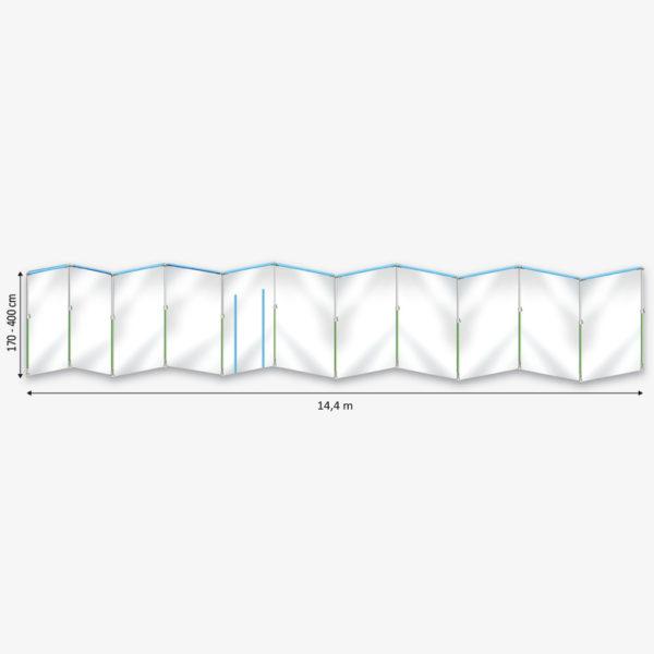 Curtain-Wall Staubschutzwand System Masterkit Skizze