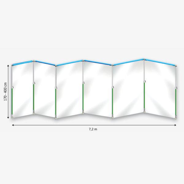 Curtain-Wall Staubschutzwand System Prokit Skizze