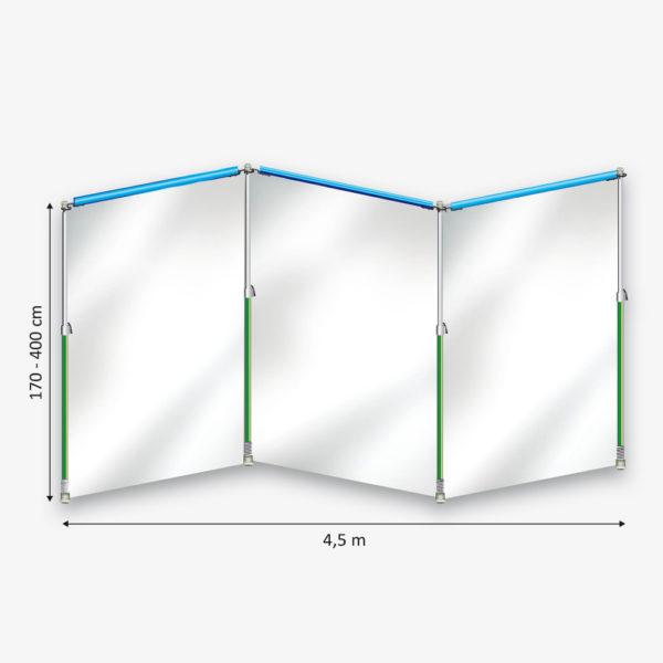 Curtain-Wall Staubschutzwand System Starterkit Skizze
