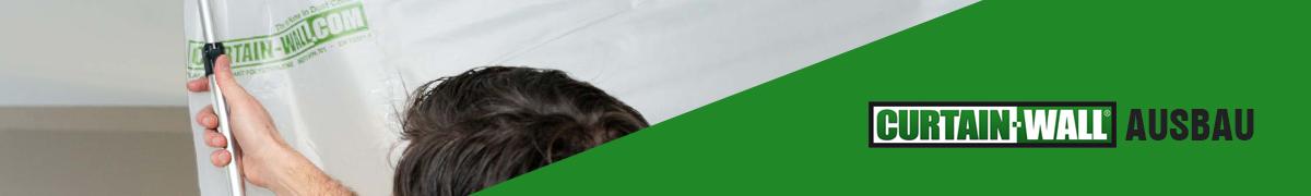 Curtain-Wall Staubschutzwand System Ausbau Header