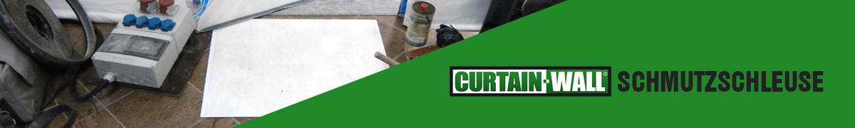 Curtain-Wall Staubschutzwand System Schmutzschleuse Header